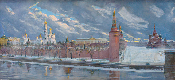 Sunrise over the Ancient Kremlin