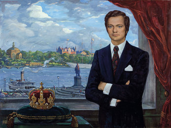 Portrait of the King of Sweden Carl XVI Gustaf