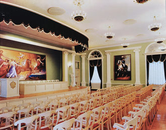 Conference hall in Russian Academy of Painting, Sculpture and Architecture. Moscow