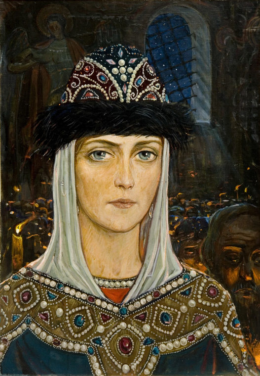 Княгиня Евдокия в храме