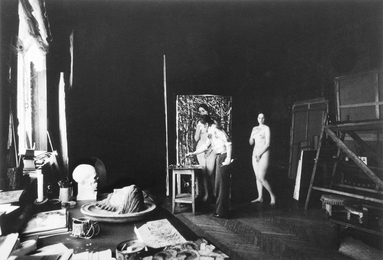 "Ilya Glazunov at Work on ""The Russian Venus"". Moscow"