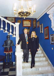 Илья Сергеевич Глазунов с Инной Орловой в мастерской художника. Москва