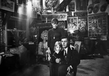 Ilya Glazunov with His Wife and Their Son. Moscow