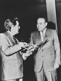 Илья Глазунов и Г.А. Алиев