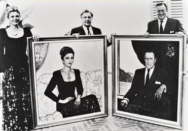 Ilya Glazunov with Baron Hines Heinrich and Baroness Carmen Thyssen-Bornemisza