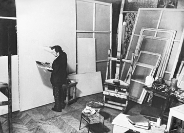 Ilya Glazunov in His Studio. Moscow