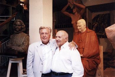 Илья Глазунов и испанский скульптор Хуан де Авалос