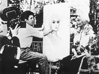 Anita Ekberg Is Posing to Ilya Glazunov. Rome