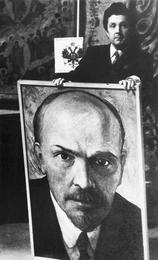 Илья Глазунов с портретом В.И. Ленина. Москва